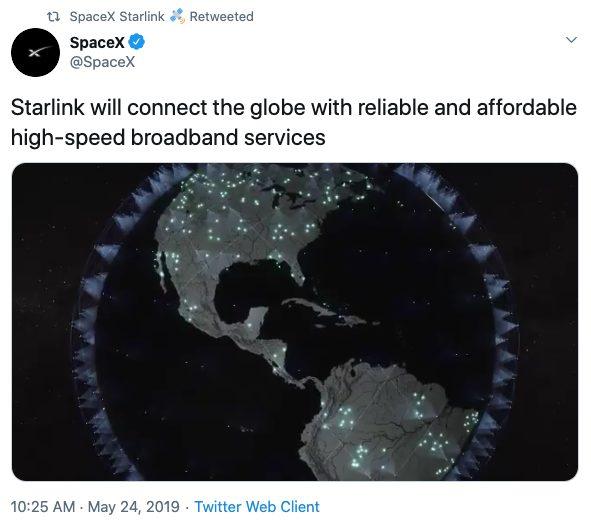 spacex starlink tweet